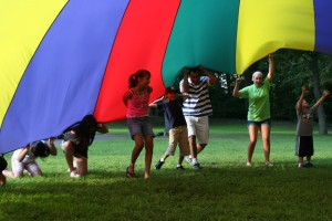 Parachute fun and games!